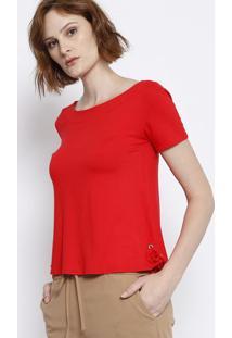 Blusa Lisa Com Ilhoses - Vermelha - Malweemalwee
