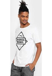 Camiseta Tropical Brasil Estampada Biz Masculina - Masculino