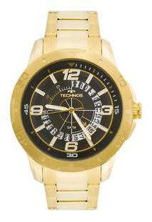 Relógio Technos Racer 2315Acl/4P Dourado 2315Acl/4P