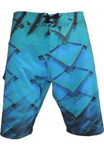 Bermuda Tecido Alkary Azul