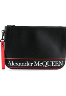 Alexander Mcqueen Clutch Com Estampa De Logo - Preto