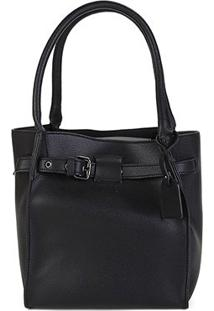 Bolsa Shoestock Handbag Belt Feminina - Feminino-Preto