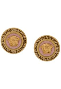 Versace Medusa Tribute Stud Earrings - Dourado