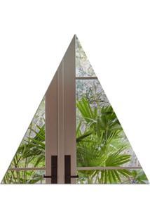 Espelho Love Decor Decorativo Triangulo ÚNico - Prata - Dafiti