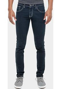 Calça Skinny Preston Color Masculina - Masculino-Marinho