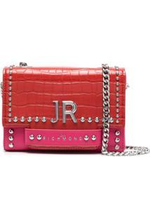 John Richmond Bolsa Tiracolo Tenziale Bicolor - Vermelho