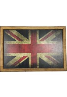 Quadro Decorativa Quarto Sala Madeira Bandeira Inglaterra - Amarelo - Dafiti