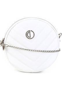 Bolsa Dumond Mini Bag Redonda Matelassê Feminina - Feminino-Off White