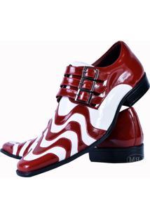 Sapato Social Gofer Copacabana Vermelho/Branco