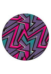 Tapete Love Decor Redondo Wevans Geométrico Color Roxo 94Cm