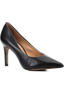 Scarpin Couro Shoestock Salto Médio