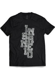 Camiseta Insane 10 Snake - Masculino-Preto