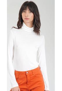 Blusa Calvin Klein Gola Alta Off-White