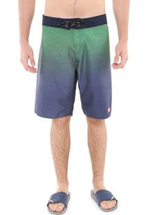 Bermuda Água Reta Calvin Klein Degradê Verde/Azul