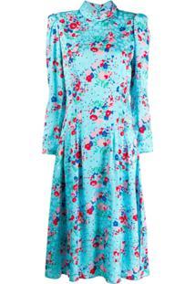 Marc Jacobs Vestido Com Estampa Floral - Azul