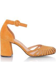 b213b14556 Farfetch. Sapato Com Salto Bico Redondo ...
