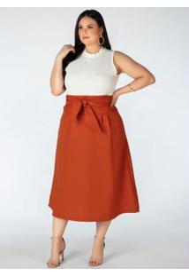 Blusa Canelada Branca Sem Manga Plus Size