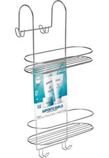 Porta Shampoo Para Box Duplo Arthi Em Metal Cromado Prata