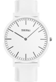 Relógio Feminino Skmei Analógico Feminino - Feminino-Branco