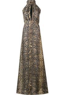 Victoria Beckham Halter-Neck Floor Length Dress - Preto
