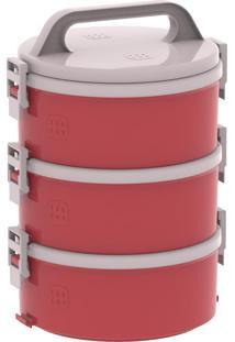 Conjunto Marmita Termoprato Tekcor 3 Peças 1.5 Litros Vermelho Soprano