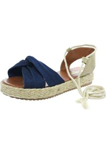 Sandalia Mariha Calçados Flatform Jeans