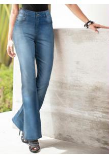 3cb7842b52 ... Calça Jeans Boot Cut Azul Claro