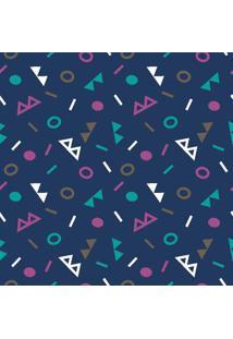 Papel De Parede Geométrico Colorido Em Rolo M7