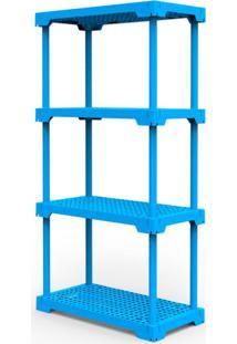 Estante Poly Com 4 Prateleiras Azul