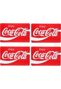 Jogo Americano Logo Da Coca Cola Enjoy 4 Peças