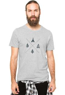 Camiseta Rgx Camping Cinza