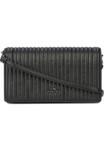 Coach Bolsa Transversal 'Quilting And Rivets' De Couro - Preto