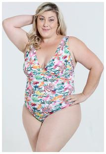 Maiô Feminino Plus Size Estampado Marisa