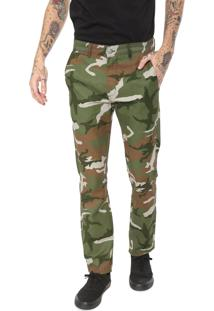 Calça Chino Dc Shoes Camuflada Verde
