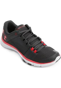 Tênis Under Armour Strive 7 Masculino - Masculino-Cinza+Branco