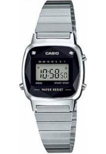 Relógio Casio Vintage Diamond Feminino - Feminino-Prata