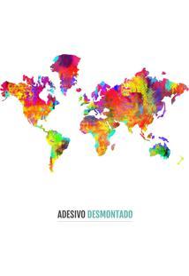 Adesivo De Parede Decohouse Adesiv Wrld Multicolorido
