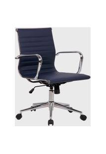 Cadeira Office Sevilha Alta Pu Azul-Marinho