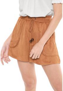 Short Dress To Suede Caramelo