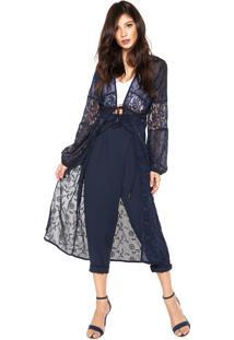 Kimono Colcci Comfort Azul-Marinho