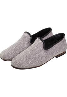 Sapato Elisa Marchi Loafer Positano Cinza