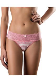 Calcinha Deep Intimate Fio Dental Stripes Rosa