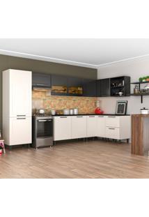 Cozinha Completa Black&White 11 Pt 2 Gv Branca E Preta