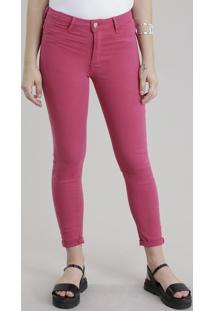 Calça Super Skinny Sawary Rosa Escuro