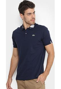 Camisa Polo Lacoste Piquet Com Tinta Masculina - Masculino