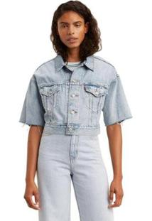 Jaqueta Jeans Levis Trucker Dad Crop - 10001 - Feminino-Jeans Claro