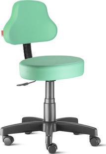 Cadeira Mocho Verde Água Plus Giratória