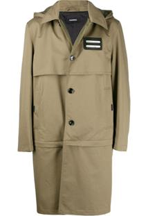 Diesel Convertible Trench Coat - Verde