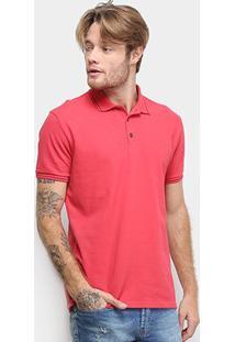 Camisa Polo Ellus Piquet Industry Co. Masculina - Masculino-Vermelho