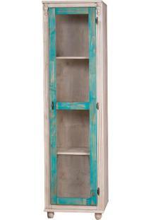 Paneleiro Elegance Glass - Bege E Azul